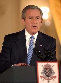 Presidente de EE.UU., George Bush en Bruselas (Foto: CTK)
