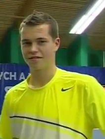 Adam Pavlásek ocupa la posición 240 del ranking mundial. Foto: ČTK.