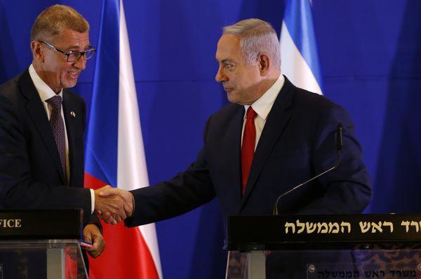 Andrej Babiš y Benjamin Netanyahu, foto: ČTK/AP/Ariel Schalit