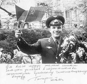 Yuri Gagarin in Prague, photo: CTK