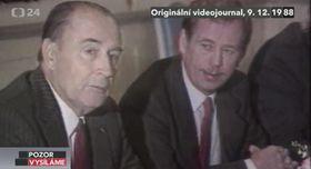François Mitterrand und Václav Havel (Foto: ČT24)