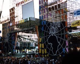 Live Aid at John F. Kennedy Stadium in Philadelphia in 1985, photo: Squelle, CC BY-SA 3.0