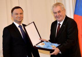 Президенты обоих государств обменялись высшими государственными наградами, Фото: ЧТК