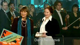 Dana Němcová (left), photo: Czech Television