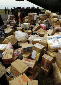 Humanitarian aid for Asia, photo: CTK