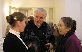 Слева: Ольга Провазникова, Петр Бродски и Мария Провазникова (Фото: Александер Дрбал)