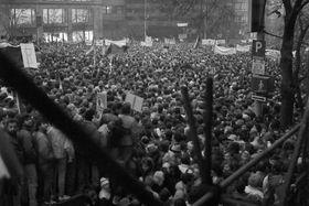 November 1989 (Foto: Dušan Bouška, Archiv des Tschechischen Rundfunks)