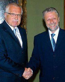 Václav Klaus aFrantišek Bublan, foto: ČTK