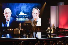 Jiří Drahoš, Miloš Zeman, foto: ČTK