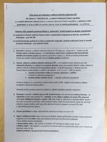 Page one of the document outlining what one needs to become a Czech citizen, photo: archive of Ian Willoughby