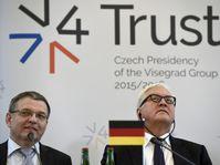 Lubomír Zaorálek et Frank-Walter Steinmeier, photo: ČTK