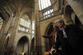 Miloš Krejčí (vlevo) aJiří Pavlica ve Svatovítské katedrále, foto: ČTK