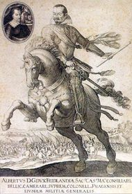 Alberto de Wallenstein con su caballo 'El Más Querido'