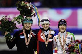 Stephanie Beckert, Martina Sáblíková y Ireen Wüst, foto: ČTK