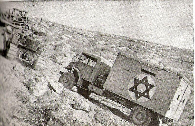 Ejército israelí en la carretera de Burma (1948). Foto: public domain