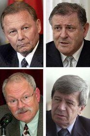 Presidential candidates: Rudolf Schuster, Vladimir Meciar, Ivan Gasparovic and Eduard Kukan, photo: CTK