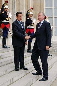 Mirek Topolánek y Nicolas Sarkozy (Foto: CTK)