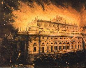 Fire of the National Theatre in 1881