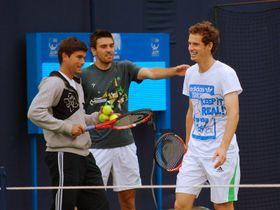 Daniel Vallverdu, Colin Fleming, Andy Murray, photo: Carine06, CC BY-SA 2.0