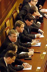 Vláda na jednání Poslanecké sněmovny 17.1., foto: ČTK