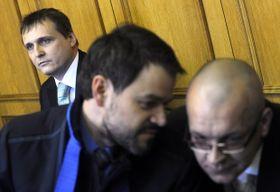 Vít Bárta (vlevo) sJaroslavem Škárkou (vpravo) usoudu, foto: ČTK