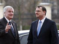 Horst Seehofer (left), Petr Nečas, photo: CTK