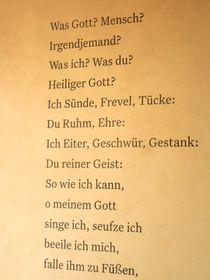 Gedicht ,Was Gott? Mensch?' (Foto: Martina Schneibergová)