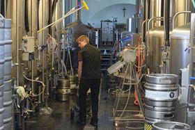 V zázemí Břevnovského pivovaru, foto: Ondřej Tomšů