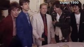 Rolling Stones meet Václav Havel in August 1990, photo: Czech Television