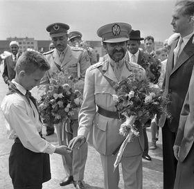 Haile Selassie na návštěvě vČeskoslovensku vroce 1959, foto: ČTK