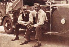 Rudolf Schichts Vater mit seinem Kollegen (Foto: Archiv von Rudolf Schicht)