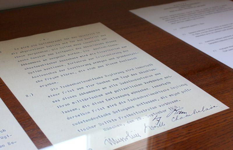 Acuerdo de Múnich, foto: Štěpánka Budková