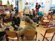 Librairie humaine au collège Jiří Guth-Jarkovský, photo: Anaïs Raimbault