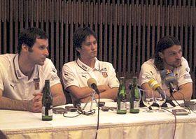 Petr Cech, Tomas Rosicky, Tomas Ujfalusi, photo: CTK