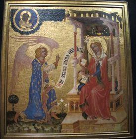 Verheißung der Geburt an Maria - zvěstování Panně Marii (Meister von Hohenfurth, Foto: Kristýna Maková)
