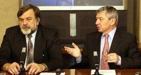 Vladimír Zelezný con Jaroslav Doubrava, senador comunista, foto: CTK