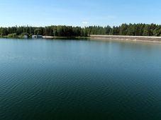 Vodní nádrž Švihov (Želivka), foto: Alžběta Medková, archiv ČRo