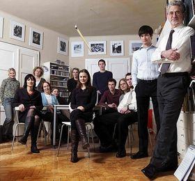 L'équipe Centropa et Edward Serotta (à la droite), photo: Centropa Vienna