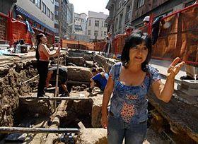 Naleziště kosterních pozůstatků vPuchmajerově ulici, foto: ČTK