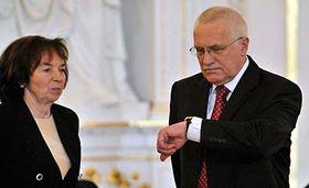 Václav Klaus smanželkou Livií, foto: ČTK