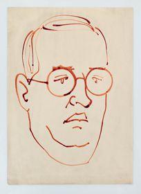 Josef Čapek, autoretrato, fuente: public domain