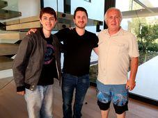 Tři generace Bartečků, zleva vnuk Anthony, syn George Jr. a Jiří Barteček