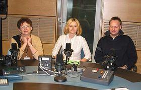 Vladimíra Dvořáková (vlevo) aJan Bureš ve studiu sMartinou Lustigovou