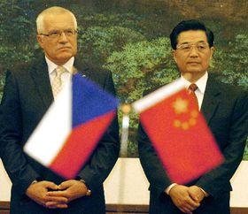 Вацлав Клаус и глава Китая Ху Цзиньтао (Фото: ЧТК)