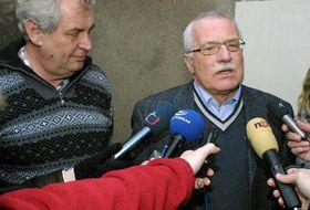 Milos Zeman y Václav Klaus, foto: CTK