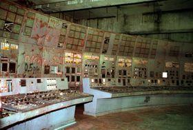 La central nuclear soviética de Chernóbil después dl accidente, foto: ČTK