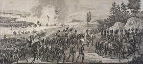 Retraite de Napoléon après la bataille de Leipzig, le 19 octobre, source: McGill University Libraries, public domain