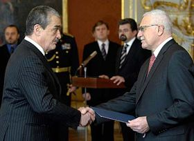 Prezident Václav Klaus (vpravo) aKarel Schwarzenberg, foto: ČTK