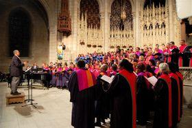 Ondřej Pivec hledá inspiraci iv kostelních gospelech vNew Yorku, foto: Max Talbot-Minkin, Flickr, CC BY 2.0