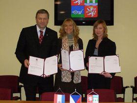 Arno Fišera, Rosa Mašek y  Zdenka Řeháčková, foto: autor